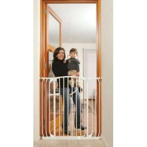 Zed L191W Extra Tall Hallway Swing Closed Security Gate  White Baby