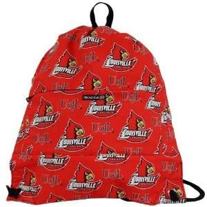 Louisville Cardinals Red Cinch Bag