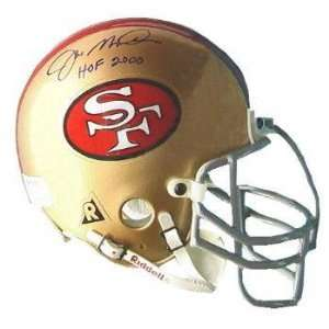 Joe Montana San Francisco 49ers Hall of Fame 2000 Autographed Mini