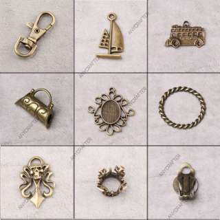 Vintage Style Antique Brass Bronze Jewelry Findings Charm & Pendant