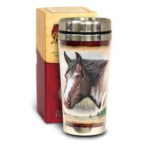 American Expedition 16 oz Steel Travel Mug Paint Horse