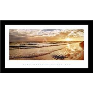 SIESTA KEY Sunset Beach art FRAMED PRINT   Alan Hoelzle