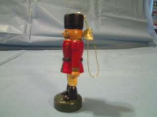 WOODEN TOY SOLDIER IN RED CHRISTMAS ORNAMENT MADE IN SHANGHAI