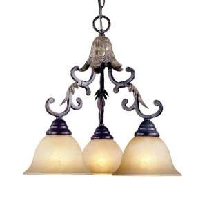Mystic Rhythm Collection Hanging Three Light Fixture In Cracked Bronze