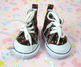 American Girl Shoes Cons Canvas Sneakers Cherry Black