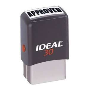 Custom Ideal 30 Black Self Inking Rubber Stamp Office