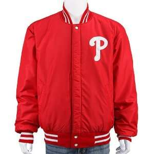 Phillies Reversible Wool & Leather/Nylon Jacket