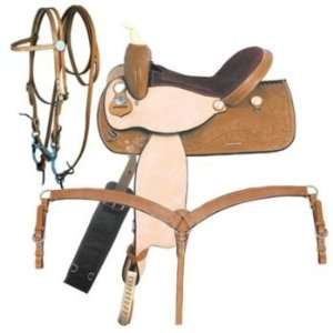 American Saddlery Turn Burn Barrel Saddle Pkg MedO