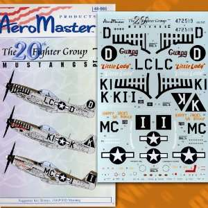 Mustangs of 20th Fighter Group, Part 1 (1/48 decals) Toys & Games