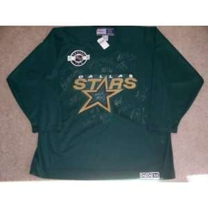 DALLAS STARS Team Signed CCM JERSEY w/COA   Autographed NHL Jerseys