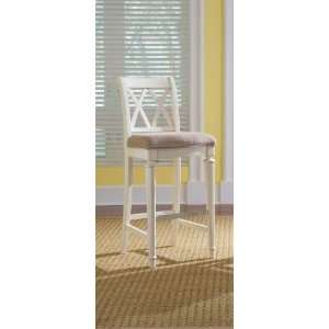 American Drew Camden White Bar Height Bar Stool