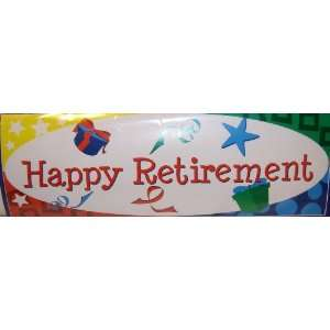 Art Giant Happy Retirement Party Banner Sign
