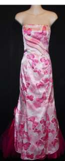 McClintock for Gunne Sax Size 7/8 Pink Strapless Formal Gown Dress