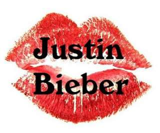 Nail Decals *Set of 20* JUSTIN BIEBER JUICY LIPS