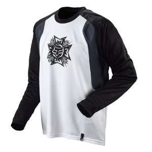 Fox Racing Nomad Jersey   X Large/White/Black Automotive