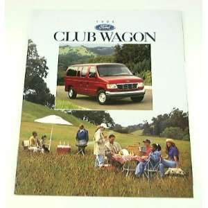 1996 96 Ford CLUB WAGON Van BROCHURE XLT Chateau XL