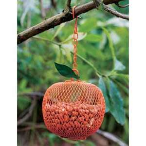 Orange Shape Bird Feeder