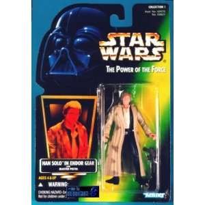 Star Wars POTF2 Green Card Han Solo Endor Toys & Games