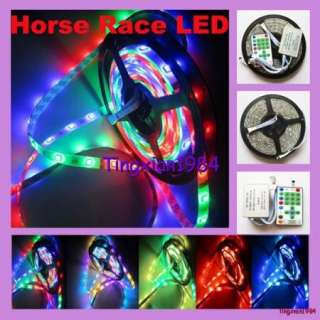 10M 2x5M Dream Color Horse Race 5050 Flash RGB SMD Led Strip & IR