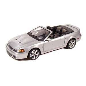 2003 Ford SVT Mustang Cobra Convertible 1/18 Silver Toys