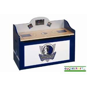 Dallas Mavericks Wood Wooden Toy Box Chest Sports