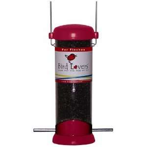 8in. Red Bird Lovers Nyjer Bird Feeder