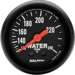 Auto Meter 2607 Z Series 2 1/16 Mechanical Water Temperature Gauge