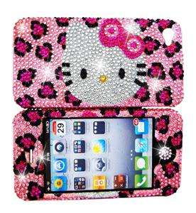 Hello Cutie Pie Kitty YOU PICK Rhinestone iPhone 4/4S Case cover