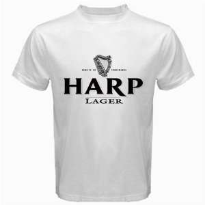 Harp Lager Beer Logo New White T Shirt Size  XL