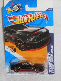 Hot Wheels 2012 Faster Than Ever Series 5/10 10 Ford Shelby GT 500