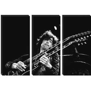 Jimmy Page of Led Zeppelin Rocking Guitar 1973 Photographic Canvas Art