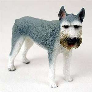 Giant Schnauzer, Gray Original Dog Figurine (4in 5in)