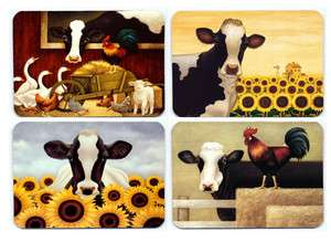 Art cow fridge magnet 4 pcs.