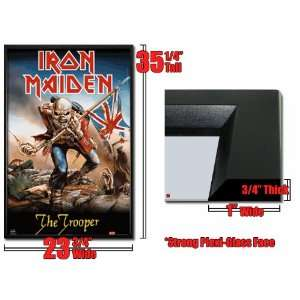 Framed Iron Maiden Trooper Flag Metal Poster Fr8095