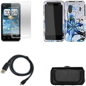 iFase Brand HTC Kingdom Combo Blue Splash Protective Case