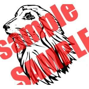 AFGHAN HOUND FACE DOG ANIMAL WHITE VINYL DECAL STICKER