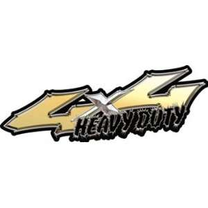 Wicked Series 4x4 Heavy Duty Truck Decals in Gold Automotive