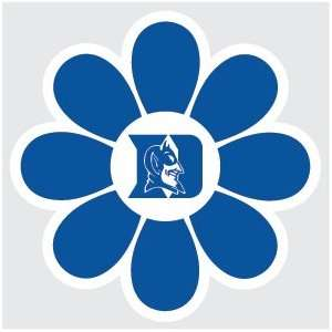 DUKE UNIVERSITY BLUEDEVILS BLUE FLOWER 4 vinyl decal car