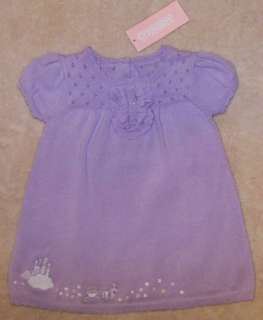 NWT Gymboree CASTLE PRINCESS Purple Sweater Dress 0 3