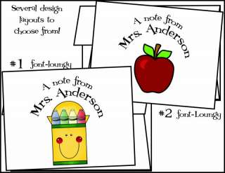 Personalized TEACHER EDUCATION Note Cards Stationery