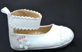 White Mary Jane kids baby toddler girl shoes size 1 2 3