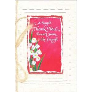 Blue Mountain Arts Greeting Card Simple Thank You Health