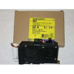 QOB120EPD SQUARE D 20 AMP, 1 POLE, EQUIPMENT PROTECTION ONLY, GROUND