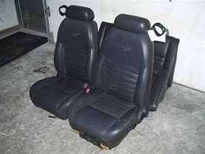 01 Ford Mustang Set of Black Leather Seats OE LKQ