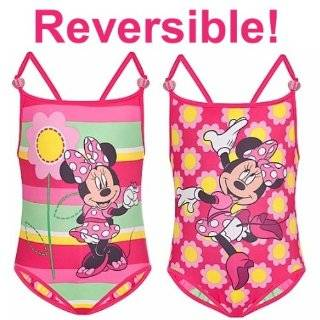 Disney Pink Polka Dot Minnie Mouse Swimsuit bathing suit