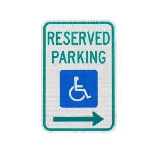 Elderlee, Inc. 9112.78 Handicapped Parking Sign, Reserved Parking with