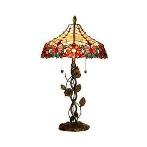 Dale Tiffany Quinn Rose 2 Light Table Lamp TT60494