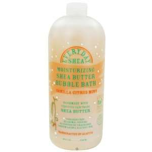 Moisturizing Shea Butter Bubble Bath Vanilla Citrus Mint   32 oz