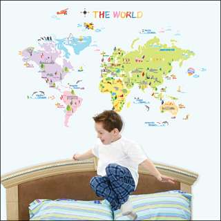 WORLD MAP Removable Art Decor Wall Sticker Decal #200