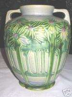 ANTIQUE ROSEVILLE VISTA ART DECO POTTERY MISSION PALM TREE FLOWER